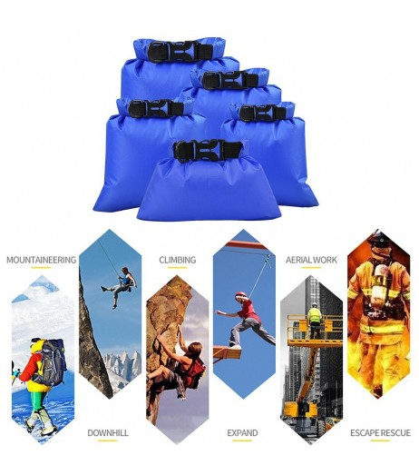 5 Pcs Outdoor Waterproof Storage Bags Dry Sacks Smartphone Camera Storage Bags for Drifting Water Sports