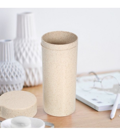 350ml Portable Water Bottle Wheat Straw Water Cup Beverage Cup