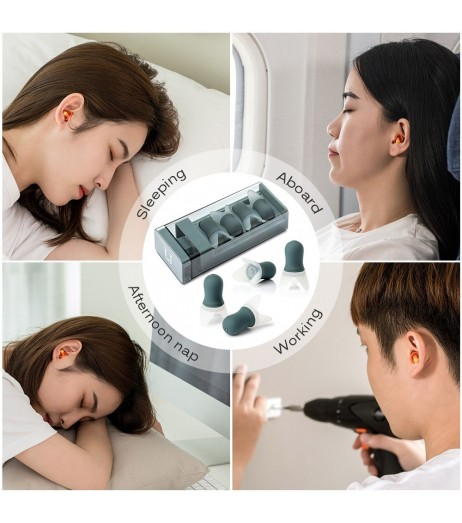 Noise Cancelling Ear Plugs Sound Blocking Earplug Noise Reduction Reusable with Storage Case for Sleeping Snoring Shooting Swimming