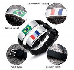 2018 Football World Cup Flag Pattern Sports Bracelet