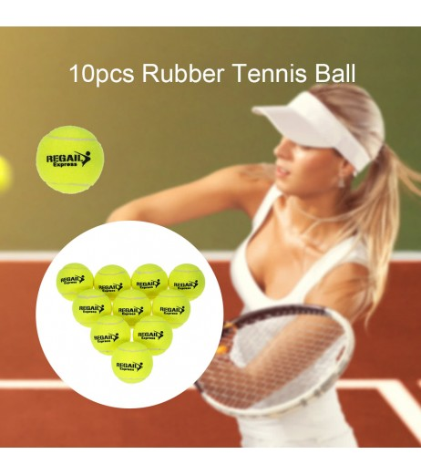 10pcs/bag Tennis Training Ball Practice High Resilience Training Durable Tennis Ball Training Balls for Beginners Competition