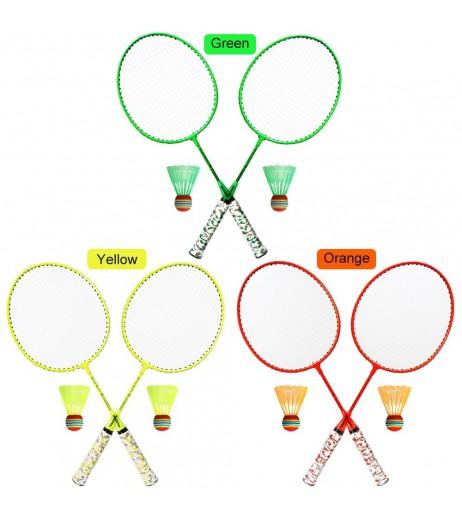 1 Pair Badminton Rackets with Balls 2 Player Badminton Set for Children Indoor Outdoor Sport Game