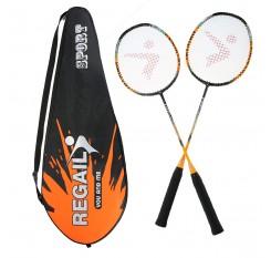 2 Player Badminton Racket Replacement Set Ultra Light Carbon Fiber Badminton Racquet with Bag