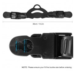 Fins Strap Universal Adjustable Fins Replacement Buckle Strap for Diving