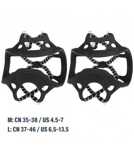 1 Pair Ice Crampons Winter Snow Boot Shoes Covers Ice Gripper Anti-skid Snow Traction Cleats