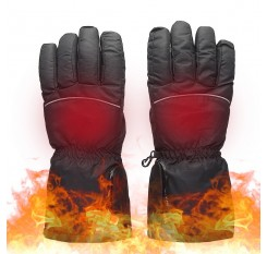 Heated Gloves with Touch Screen Design Batter-y Powered Operated Thermal Gloves Hand Warmer Gloves for Outdoor Activities Climbing Skiing Hiking Cycling Adult Gift Present Black