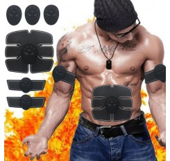 Electric Muscle Trainning Tool Abdominal Stimulation Muscle Exerciser Training Body Slimming Machine Fat Burning Fitness Massage