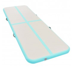 Inflatable exercise mat with pump 300 × 100 × 10 cm PVC green