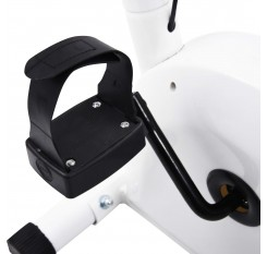 Exercise bike with belt resistance white