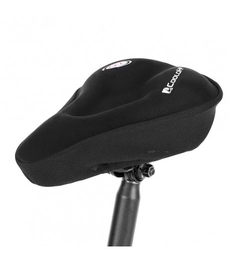 Bike Saddle Cushion Bicycle Seat Cover Silicone Gel Cover Ergonomic Comfortable Bicycle Saddle Cover for Stationary Exercise Bike Cycling Road Bike