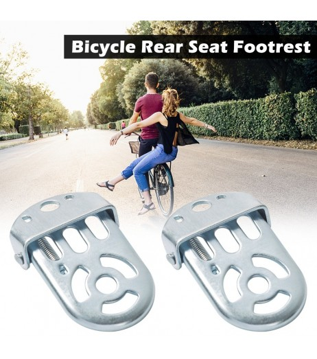 1 Pair Bicycle Folding Foot Rest for Kids Bike Rear Seat Safety Footrest Foot Plates Pedals