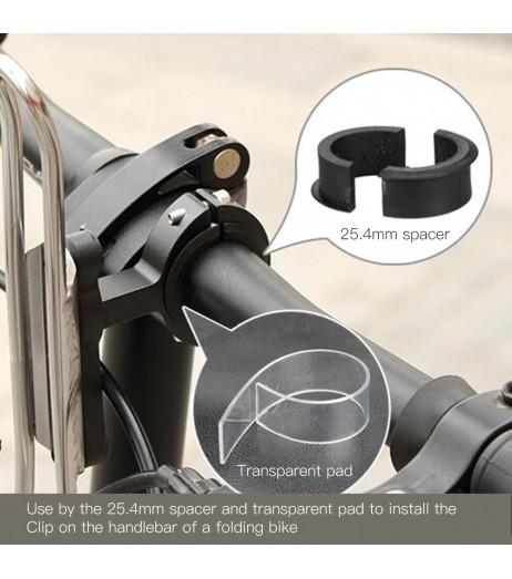 GUB Ultralight Bicycle Water Bottle Cage Adapter Adjustable Rotation Bike Water Rack Seatpost Handlebar Bottle Holder Mount Clip