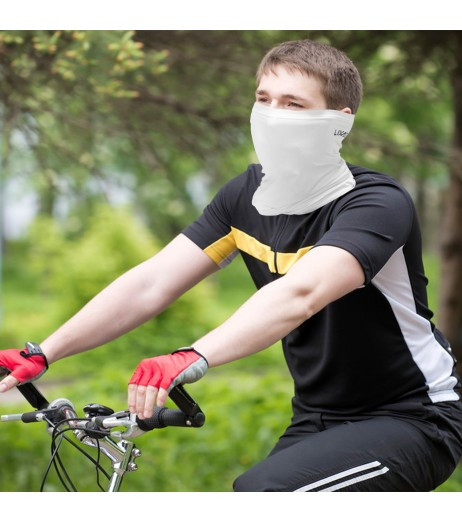 Lixada Cycling Half Face Cover Motorcycle Neck Warmer Riding Neck Gaiter Cooling Climbing Running Hiking Neck Wrap Ice Silk Dust Sunlight Protection Cycling Headgear