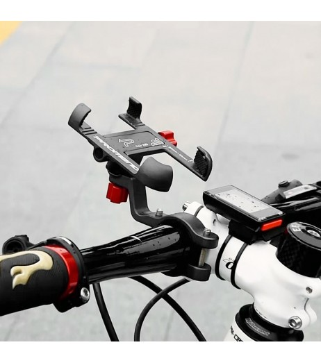 Strong Aluminum Alloy Bike Phone Mount Bicycle Motorcycle Phone Holder 360° Rotation Adjustable Phone Cradle 31.8mm Handlebar